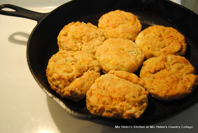 Garden Vegetable Biscuits at Miz Helen's Country Cottage