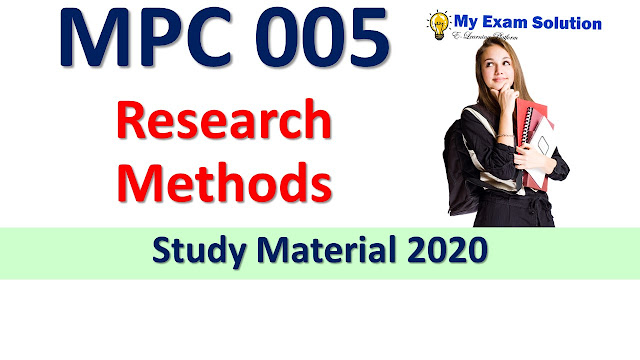 MPC 005 Research Methods Study Material 2020