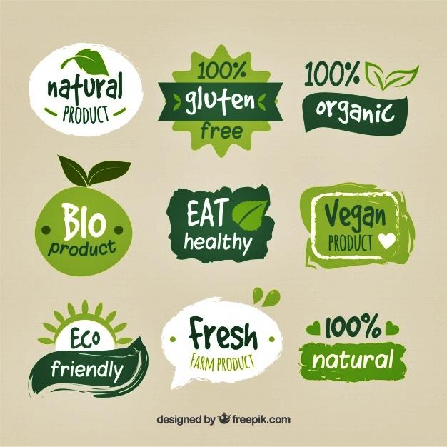 logo keren untuk makanan sehat dan herbal