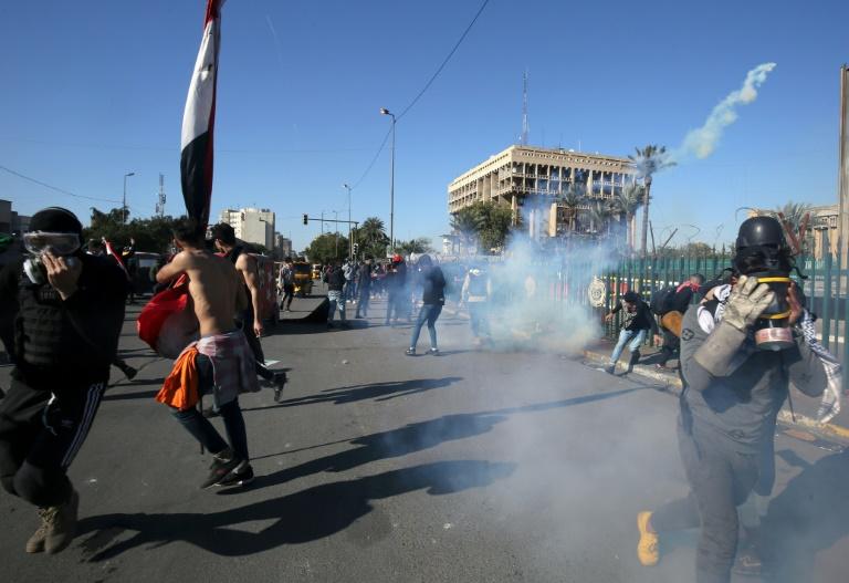 Protestantes en la calle