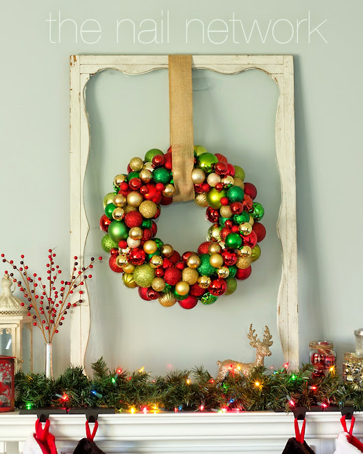 The Nail Network: The Nail Network Decks the Halls: A Look at My DIY Christmas Decorations