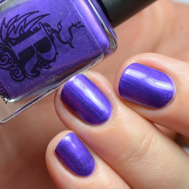 purple metallic nail polish