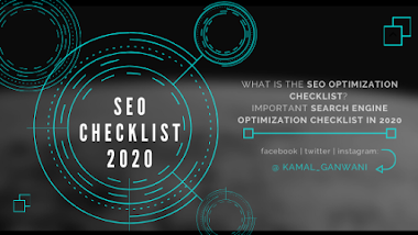 What is the SEO optimization checklist? Important SEO Checklist in2020