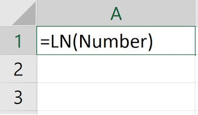 Mencari Nilai Ln di Excel
