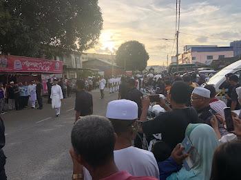 Almarhum Sultan Ismail Petra selamat disemadikan.