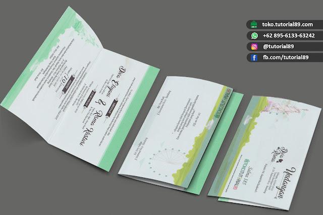 Undangan pernikahan 89.S180 - Seimpel Lipat 2 +free stiker label undangan