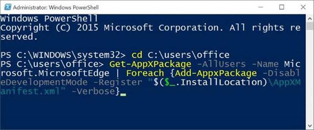 كيفية إعادة تثبيت متصفح مايكروسوفت إيدج في ويندوز 10