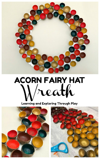 Acorn Fairy Hat Wreath - Autumn Crafts for Kids