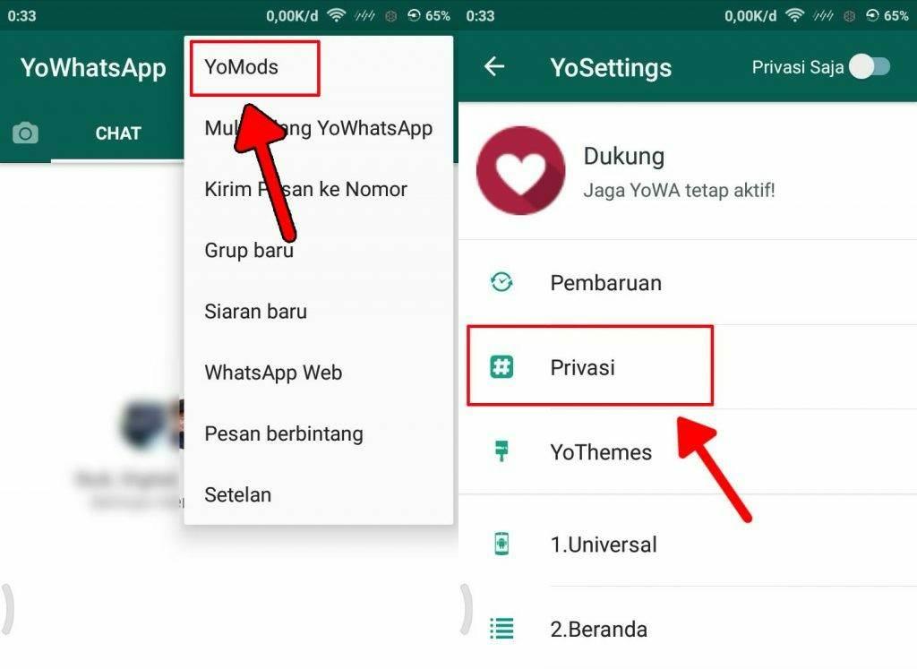Cara membuat pesan chat WA tidak bisa di tarik pengirim 4