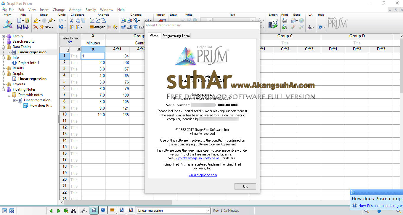 Download GraphPad Prism serial number terbaru