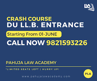 Crash Course For DU LL.B. Entrance at Pahuja Law Academy
