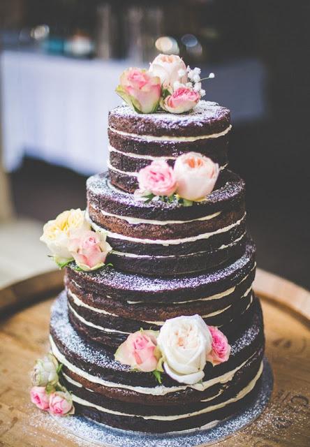 Naked cakes: Tartas de boda al desnudo