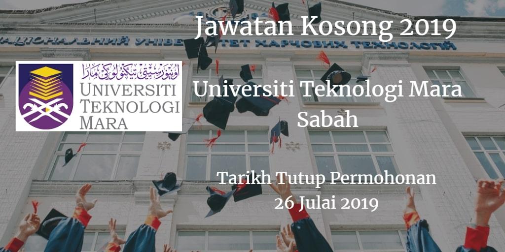 Jawatan Kosong UiTM Sabah 26 Julai 2019