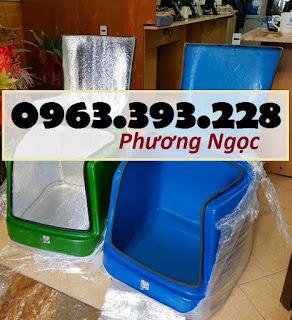Thùng chở hàng nhựa composite, thùng giao đồ ăn, thùng giao hàng sau xe máy