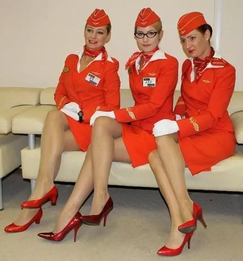 Very classy Russian flight attendants