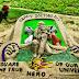 बलिया के इस युवा ने रेत पर आकृति उकेर दी डॉक्टरर्स डे की बधाई
