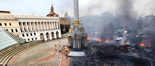 Drafts from My Coffee Table: Headline Places - Kiev Riot Turns Deadly