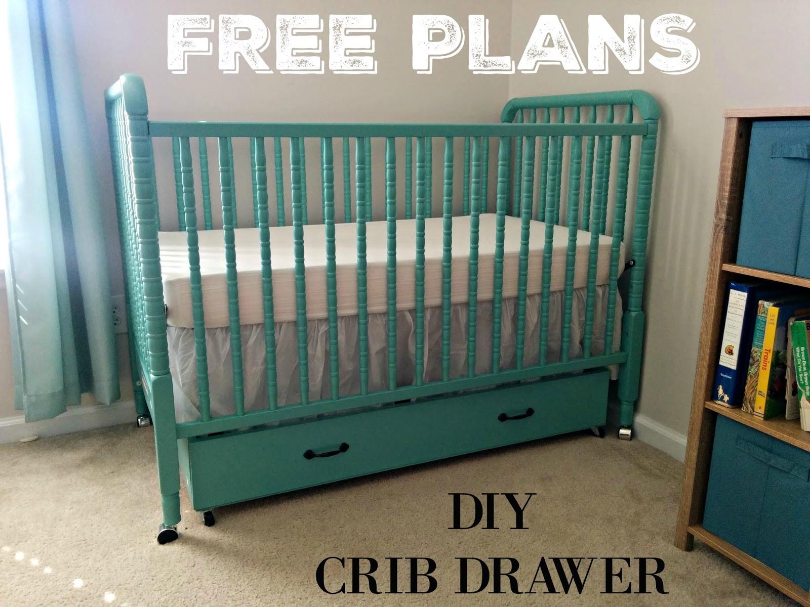 DIY Crib Drawer {FREE PLANS}