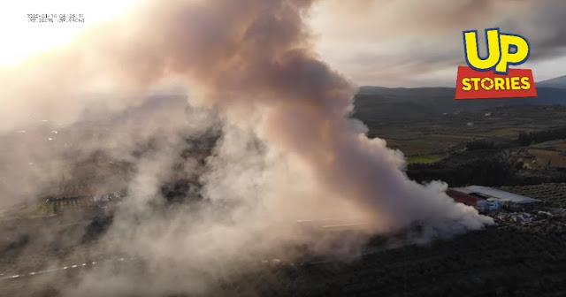 Έλεγχοι στην Κορινθία μετά την πυρκαγιά στη μονάδα ανακύκλωσης για περιβαλλοντική ρύπανση