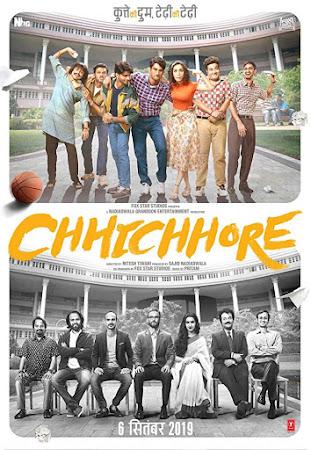 Poster Of Bollywood Movie Chhichhore 2019 300MB Pdvd Full Hindi Movie