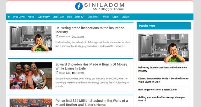 Siniladom AMP Blogger Templates