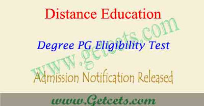 SDLCE KU Admission notification 2021, distance degree pg apply date