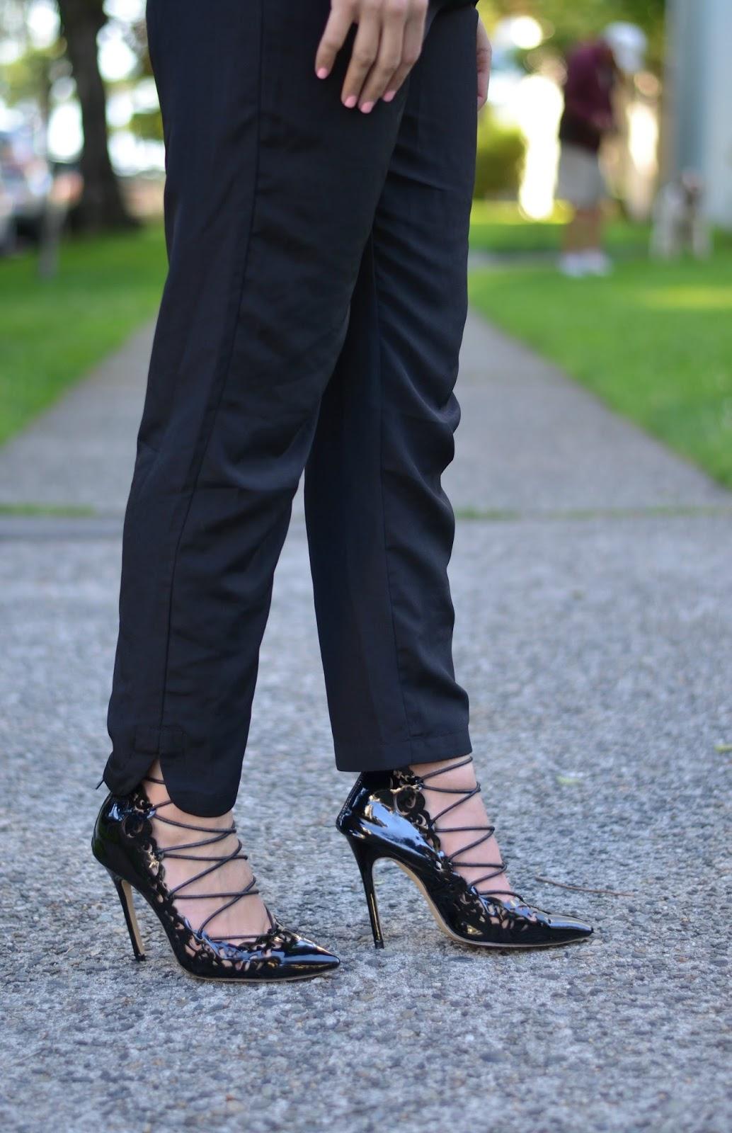 sammy dress black heels