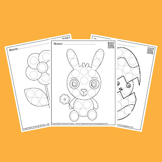 spring do a dot markers activity free printable for kids,free pdf book download,flower,tree,butterfly,snail,rabbit bunny,easter egg,peeps, chick,ladybug,sun and clouds