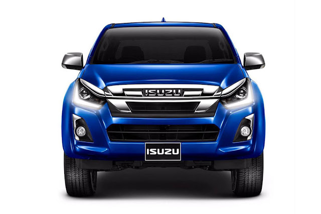 New 2018 Isuzu MU-X close up shot
