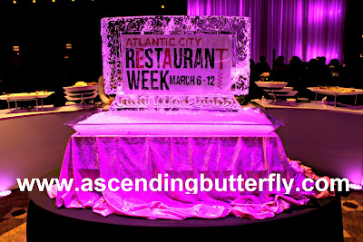 Atlantic City Restaurant Week Ice Sculpture at Exclusive Preview Event held at Borgata Atlantic City