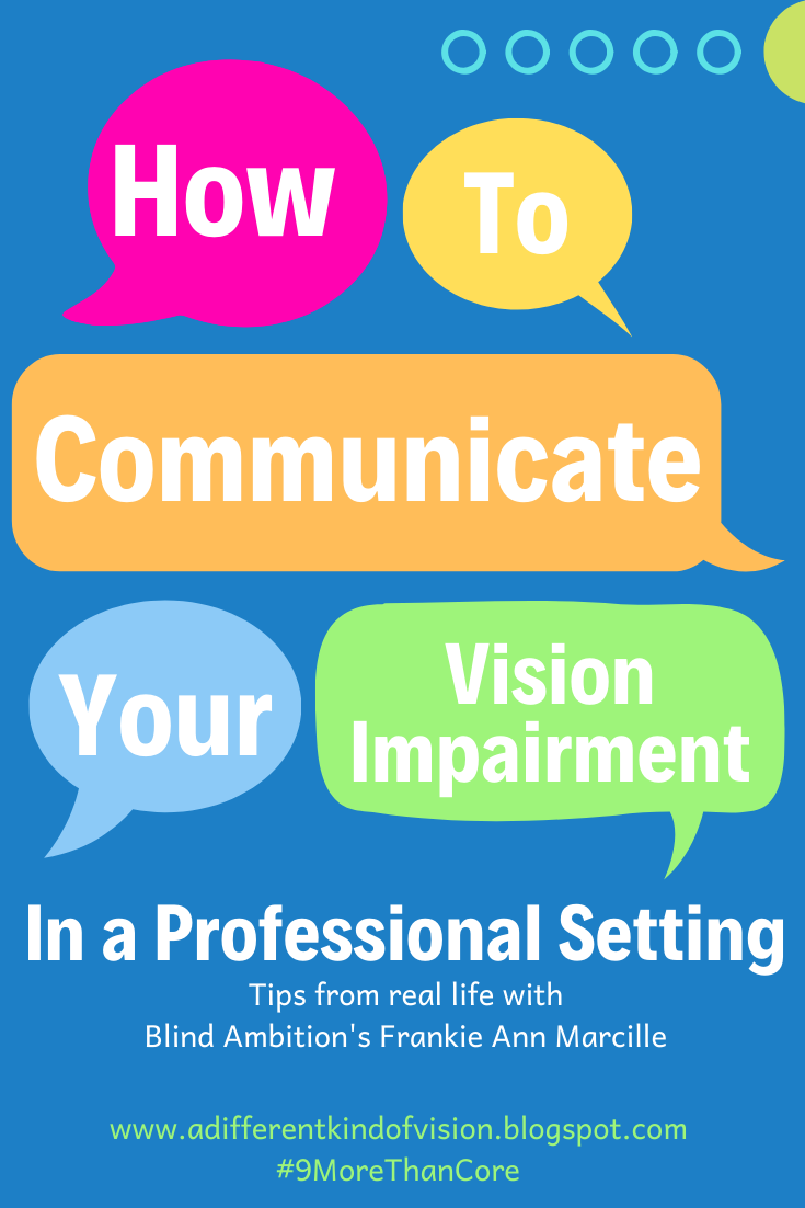 How to communicate your vision impairment in a professional setting with Blind Ambition