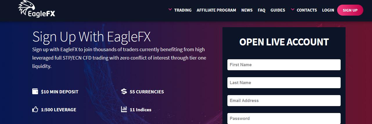 Мошеннический сайт eaglefx.com – Отзывы, развод. EagleFX мошенники