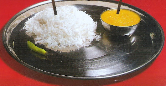 'Indian Daal-Chawal- the best food on planet earth' - by K.J.S.Chatrath