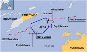 JPDA MAP SHOWING PRODUCTION SHARING ARRANGEMENTS UNDER CMATS