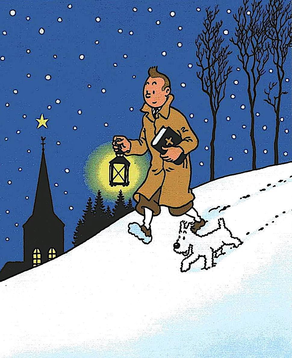 'Tintin' by Hergé, color