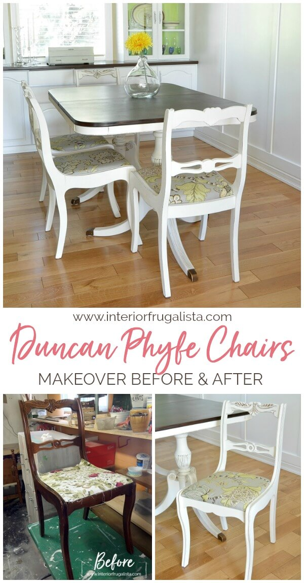 Duncan Phyfe Chair Makeover Before and After