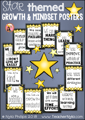 Reach for the Stars themed Growth Mindset Posters