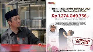 Ditutup, Donasi untuk Keluarga Ustadz Maaher Tembus Rp1,2 Miliar