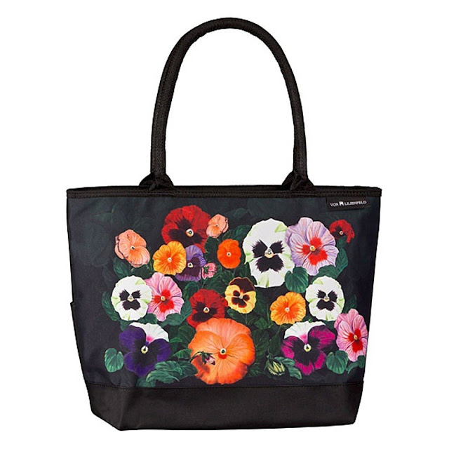 Cabas pas cher, sac shopping fleuri