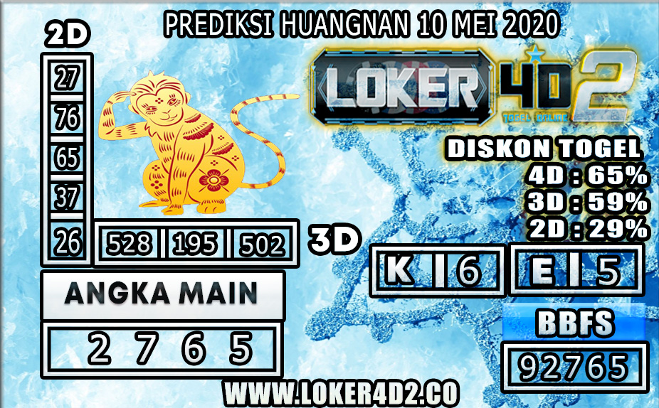 PREDIKSI TOGEL HUANGNAN LOKER4D2 10 MEI 2020