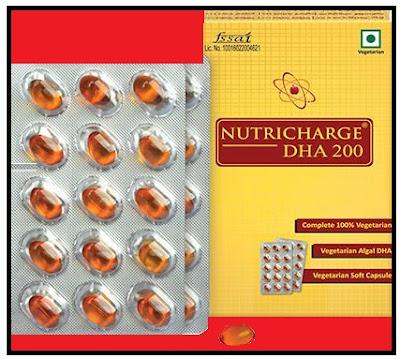 न्यूट्रीचार्ज डीएचए 200 के बारे में जानकारी   Information about nutricharge DHA 200