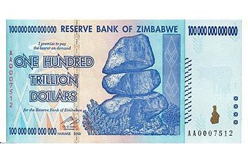 Zimbabwe Used To Have A Z 100 000 Note One Trillion Zimbabwean Dollars