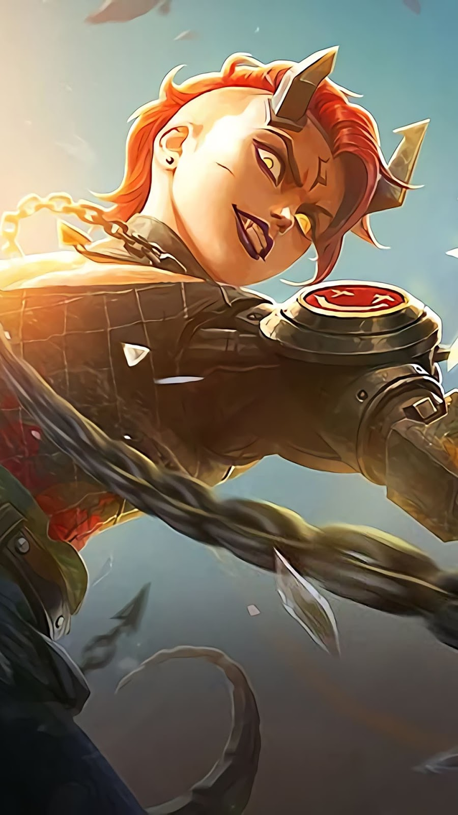 Wallpaper Dyrroth Ruins Scavenger Skin Starlight Mobile Legends HD for Android and iOS