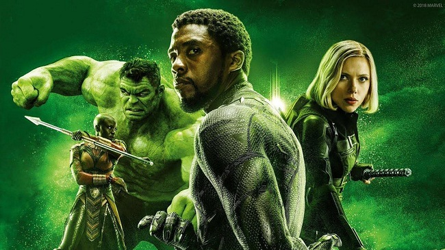 Avengers: Infinity War Black Widow - Black Panther - Hulk - Okoye