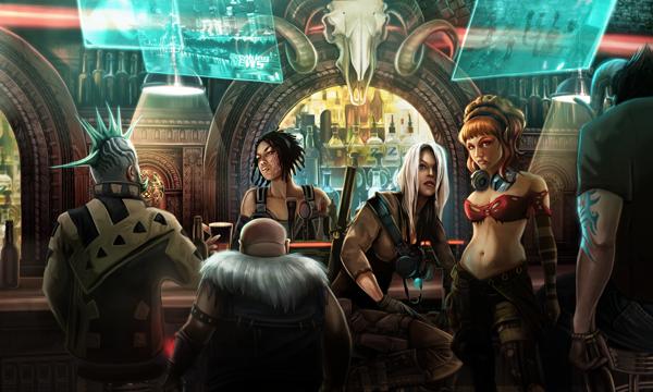 Un bar típico de Shadowrun, donde suelen empezar tantos problemas