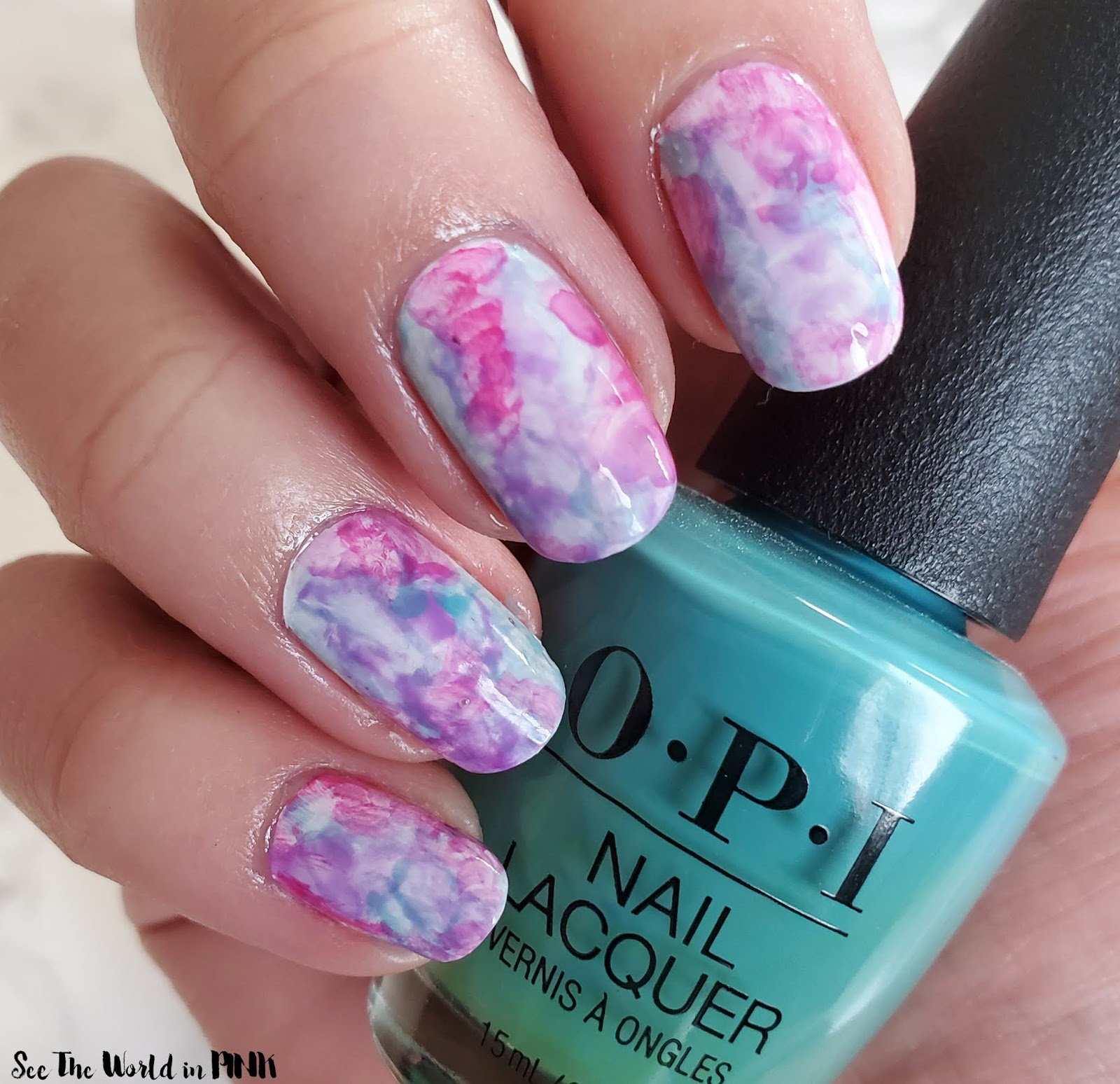 Manicure Monday - Watercolour Nail Art
