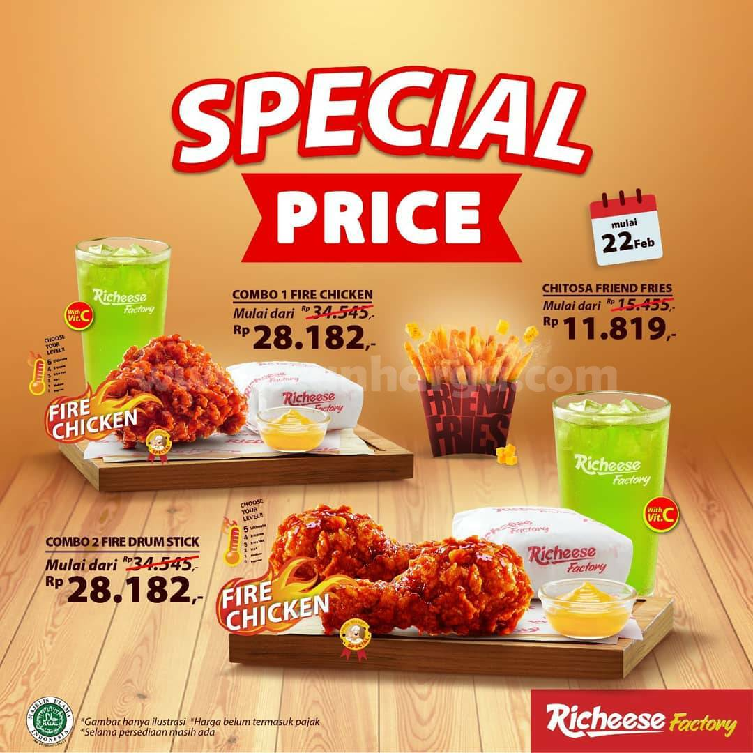 Promo RICHEESE FACTORY! Special Spicy Treats – Harga mulai Rp 28.182