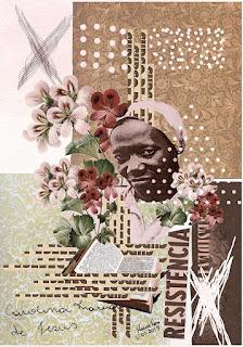 Imagem feita com colagem sobre Carolina Maria de Jesus, Por Maria Rosa