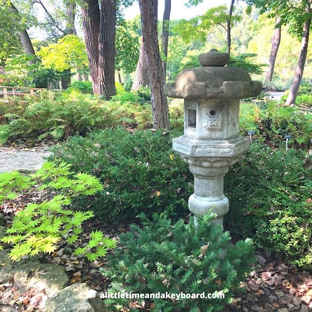 Lanterns add more to ponder in the Japanese garden.