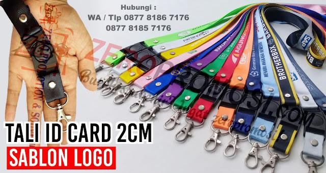 Tali ID Card 2cm Sablon logo, Lanyard Tali Name Tag nylon, Tali Lanyard, Tali ID Card, Tali Name Tag Uk. 2 Cm